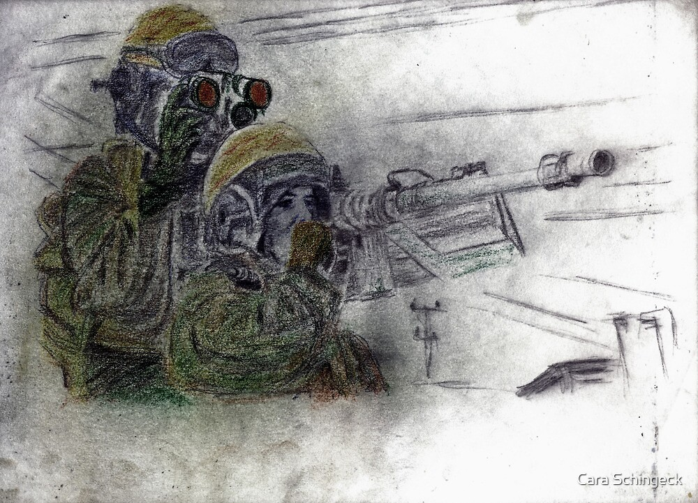 Our War: Day 129-20101207 by Cara Schingeck