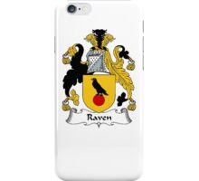 Coat of arms (family crest) for last-name or surname Raven . Heraldry banner for your name. iPhone Case/Skin