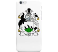 Coat of arms (family crest) for last-name or surname Ravenhill . Heraldry banner for your name. iPhone Case/Skin