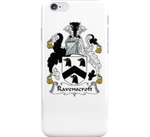 Coat of arms (family crest) for last-name or surname Ravenscroft . Heraldry banner for your name. iPhone Case/Skin