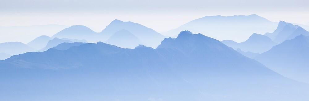 Blue Ridge Mountains of Slovenia by toonartist