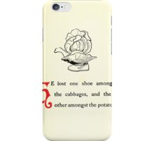 The Tale of Peter Rabbitt Beatrix Potter 1916 0027 Lost One shoe Among the Cabbages Other Potatoes iPhone Case/Skin