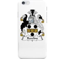 Coat of arms (family crest) for last-name or surname Rawlins . Heraldry banner for your name. iPhone Case/Skin