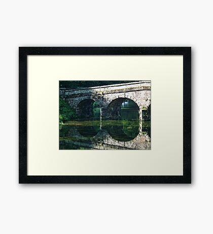 Bridge At Beautiful Stourhead, Wiltshire Framed Print