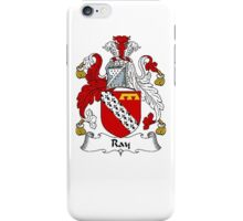 Coat of arms (family crest) for last-name or surname Ray . Heraldry banner for your name. iPhone Case/Skin