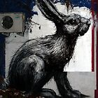 Giant Rabbit, By ROA by GraffArt Tees