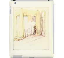 The Tailor of Gloucester Beatrix Potter 1903 0054 Cat Checking Bed iPad Case/Skin