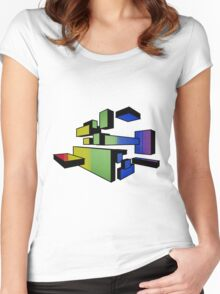 colour blocks Women's Fitted Scoop T-Shirt