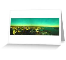 Coronado Bridge Cityscape, San diego Greeting Card
