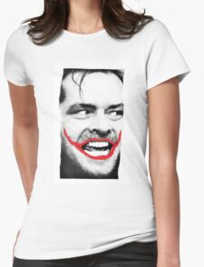 THE JOKER X SHINING X JACK NICHOLSON Womens Fitted T-Shirt