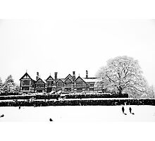 Bramhall Park in the Snow Photographic Print