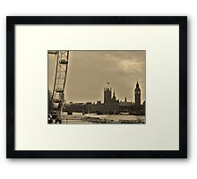 Old/New London Town Framed Print