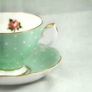 Apple green teacup by Caterpillar
