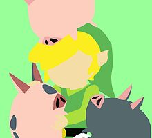 Toon Link Vector Art by Cry0