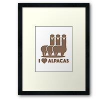 I Love Alpacas Framed Print