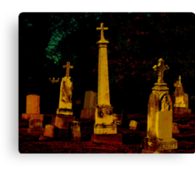 A Cemetary in Kentucky Canvas Print