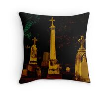 A Cemetary in Kentucky Throw Pillow