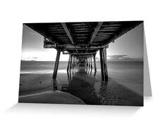 Henley beach jetty, Adelaide South Australia Greeting Card