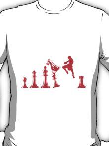 Kickboxing Chess Jumping Knee Red  T-Shirt