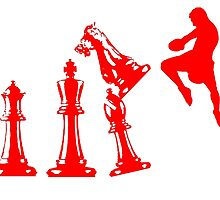 Kickboxing Chess Jumping Knee Red  by yin888