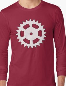 Cog and Roll (white) Long Sleeve T-Shirt