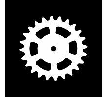 Cog and Roll (white) Photographic Print