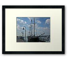 "Pirate Ship  ""Raw Faith"". Framed Print"
