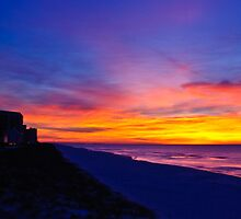 Navarre Beach, FL at sunrise 2/15/2008 by Gerry Daniel