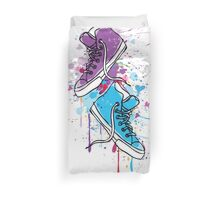 Colorful sneakers Duvet Cover