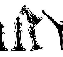 Female Kickboxing Chess Black  by yin888