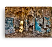 Abandoned destroyed room Canvas Print