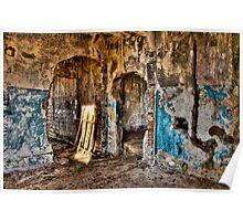 Abandoned destroyed room Poster