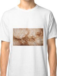 Red fox rough fur texture cloth  Classic T-Shirt