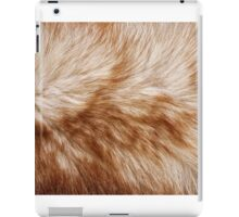 Red fox rough fur texture cloth  iPad Case/Skin