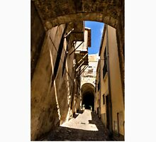 Sharp Shadows Passageway - Old Town Noto, Sicily, Italy Unisex T-Shirt
