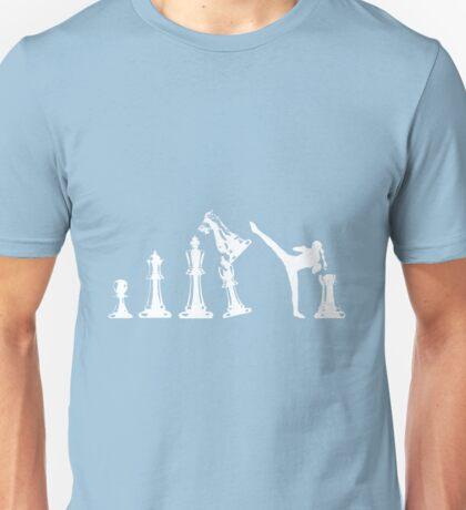 Female Kickboxing Chess White  Unisex T-Shirt