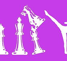 Female Kickboxing Chess White  by yin888