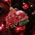 VW Bus Christmas Ornament by vschmidt