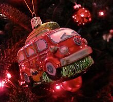 VW Bus Christmas Ornament by vschmidt