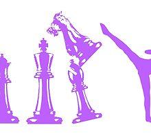 Female Kickboxing Chess Purple  by yin888