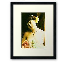 Beautiful Vintage Lady Framed Print