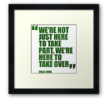 Conor McGregor - Quotes [Take Over - Green] Framed Print
