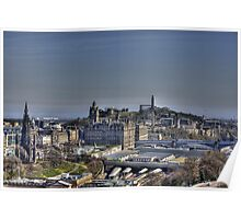The view to Calton Hill Poster