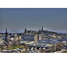 The view to Calton Hill Photographic Print