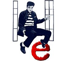 Learning in the Rockabilly School: E as Elvis Photographic Print