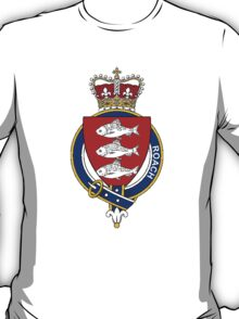 Coat of arms (family crest) for last-name or surname Roach (Ireland) . Heraldry banner for your name. T-Shirt