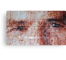 Monk zoom, handcrafted picture, mixed media, dots, pop-art Canvas Print