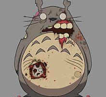 Zombie Totoro by crabro