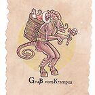 Krampus gift Tag by retromancy