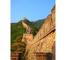 The Great Wall of China, near Beijing. Photographic Print